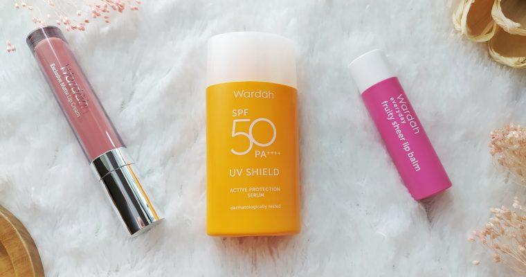 Produk Wardah UV Shield, Lip Balm, dan Lip Cream